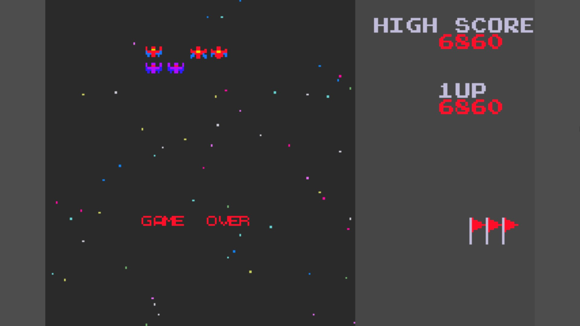 AkinNahtanoj: Namco Museum: Galaxian (GBA Emulated) 6,860 points on 2020-10-17 14:42:13
