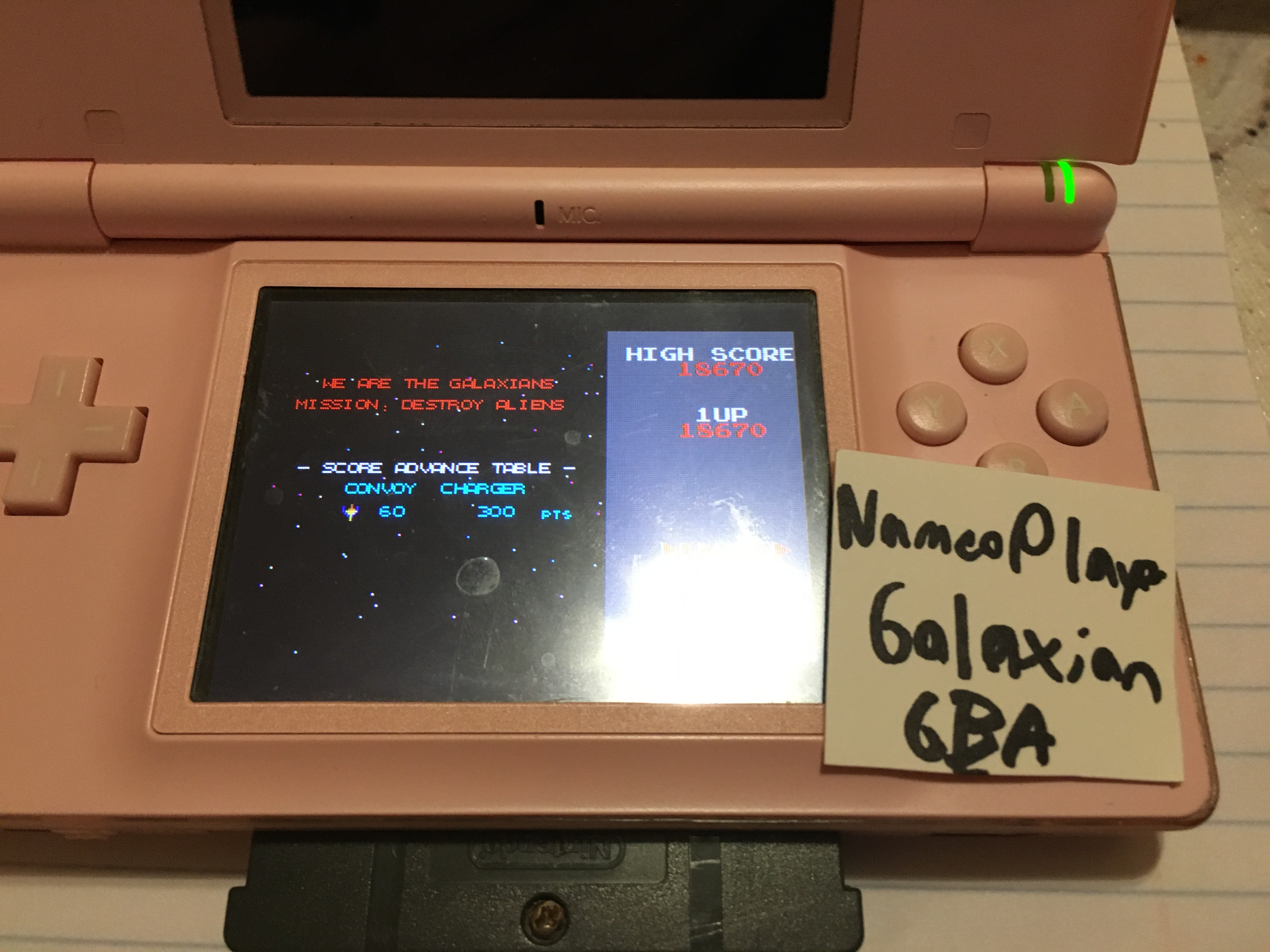 NamcoPlayer: Namco Museum: Galaxian (GBA) 18,670 points on 2020-11-12 21:34:06