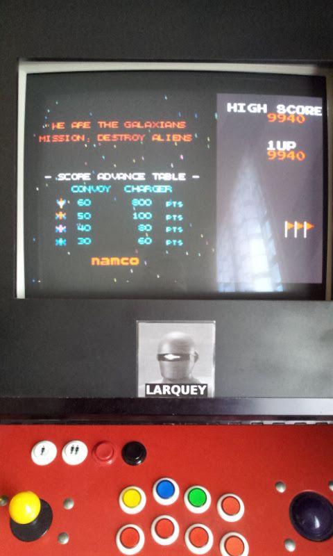 Larquey: Namco Museum: Galaxian (GBA Emulated) 9,940 points on 2017-11-03 05:08:29