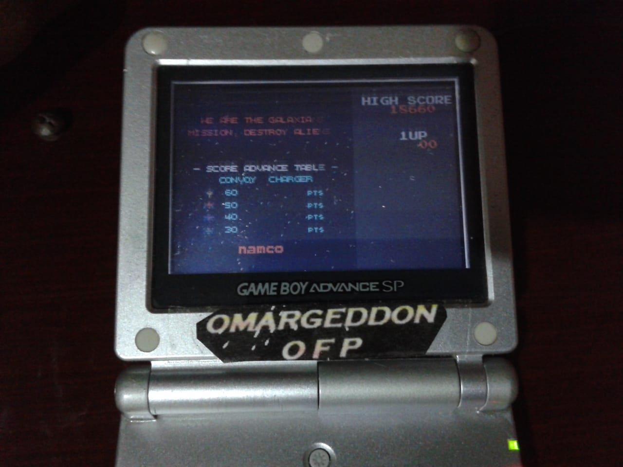 omargeddon: Namco Museum: Galaxian (GBA) 18,660 points on 2018-06-02 11:08:16