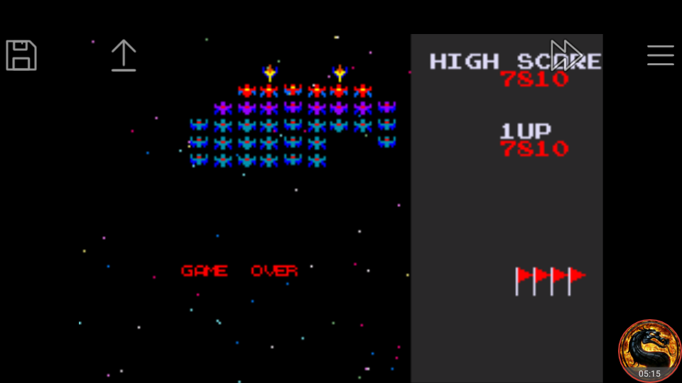 omargeddon: Namco Museum: Galaxian (GBA Emulated) 7,810 points on 2018-08-25 23:51:11