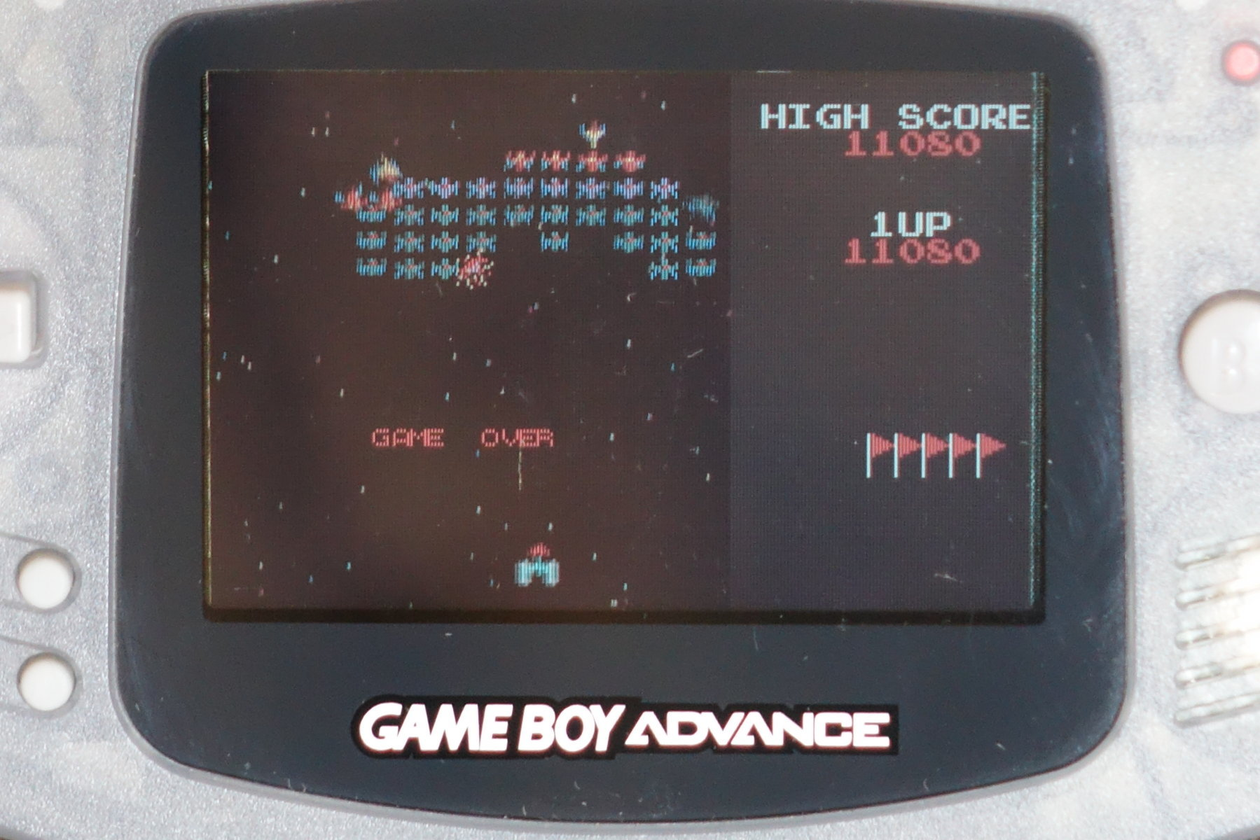plus4punk: Namco Museum: Galaxian (GBA) 11,080 points on 2020-06-09 04:11:54