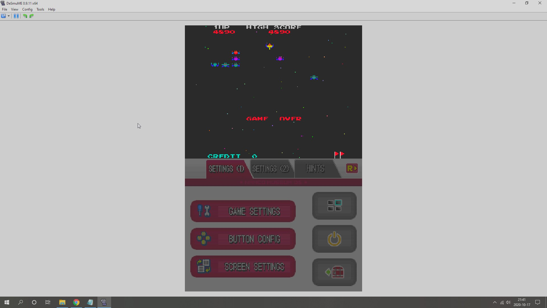 AkinNahtanoj: Namco Museum: Galaxian (Nintendo DS Emulated) 4,890 points on 2020-10-17 14:46:30