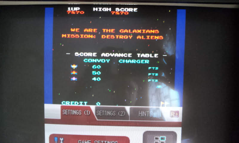 Larquey: Namco Museum: Galaxian (Nintendo DS Emulated) 7,870 points on 2018-08-15 05:25:06