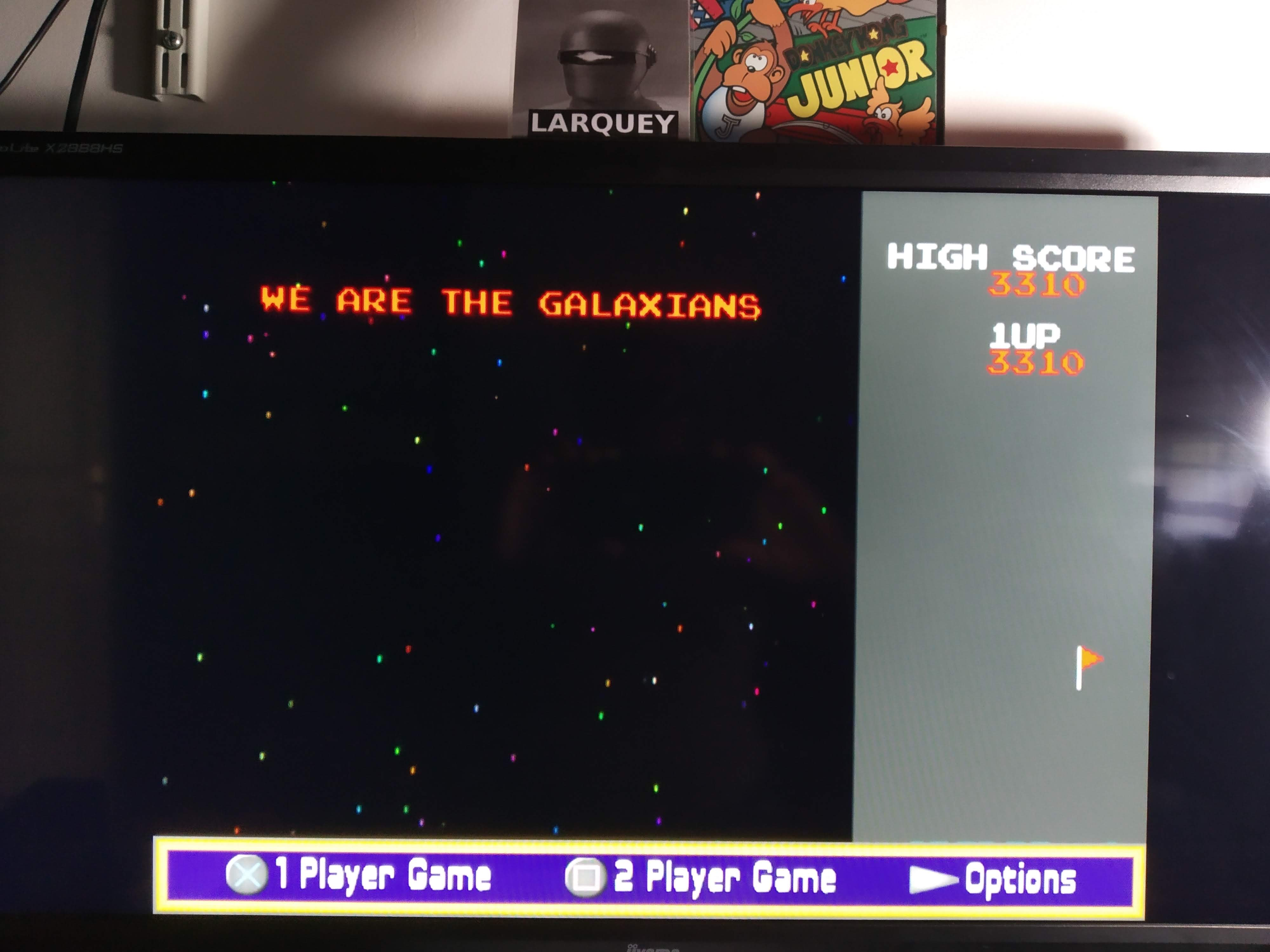 Larquey: Namco Museum: Galaxian (Playstation 2 Emulated) 3,310 points on 2020-08-07 13:25:01