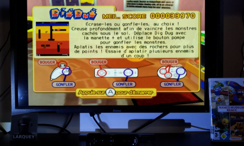 Larquey: Namco Museum Megamix: Dig Dug (Wii) 33,970 points on 2018-01-20 04:36:09