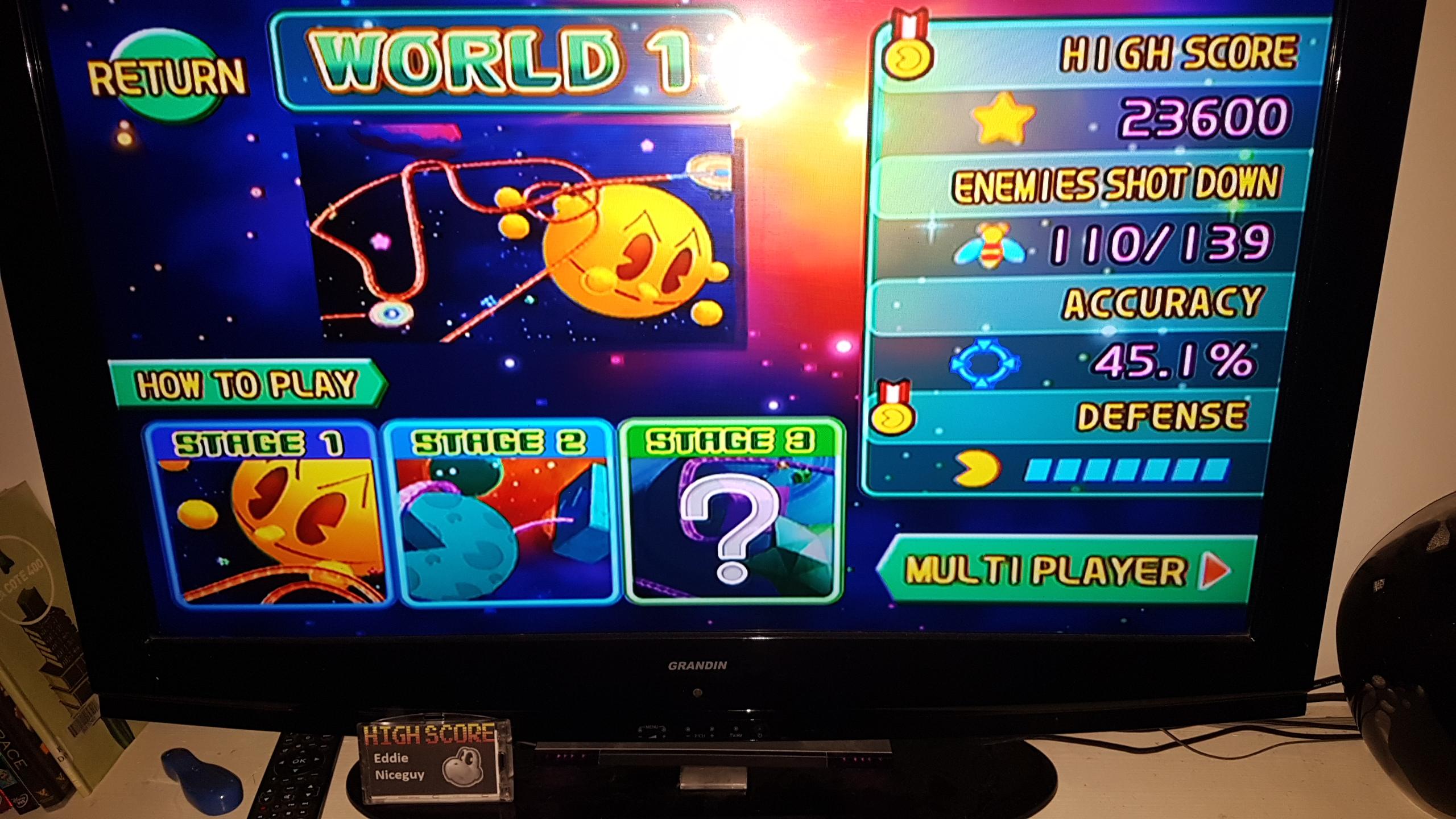 Namco Museum Megamix [Galaga Remix 1-1] 23,600 points