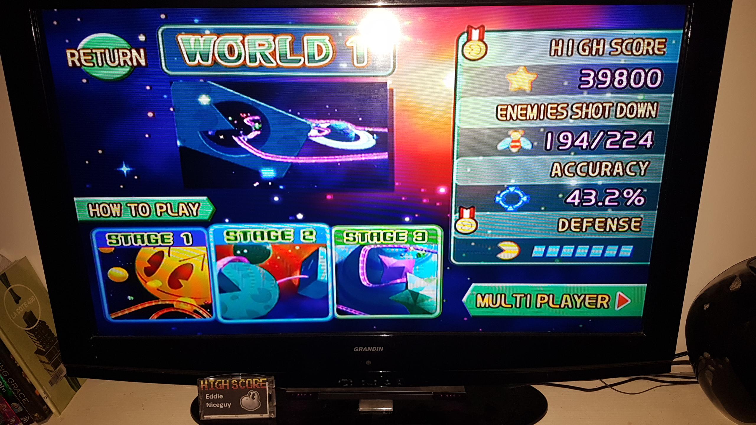Namco Museum Megamix [Galaga Remix 1-2] 39,800 points
