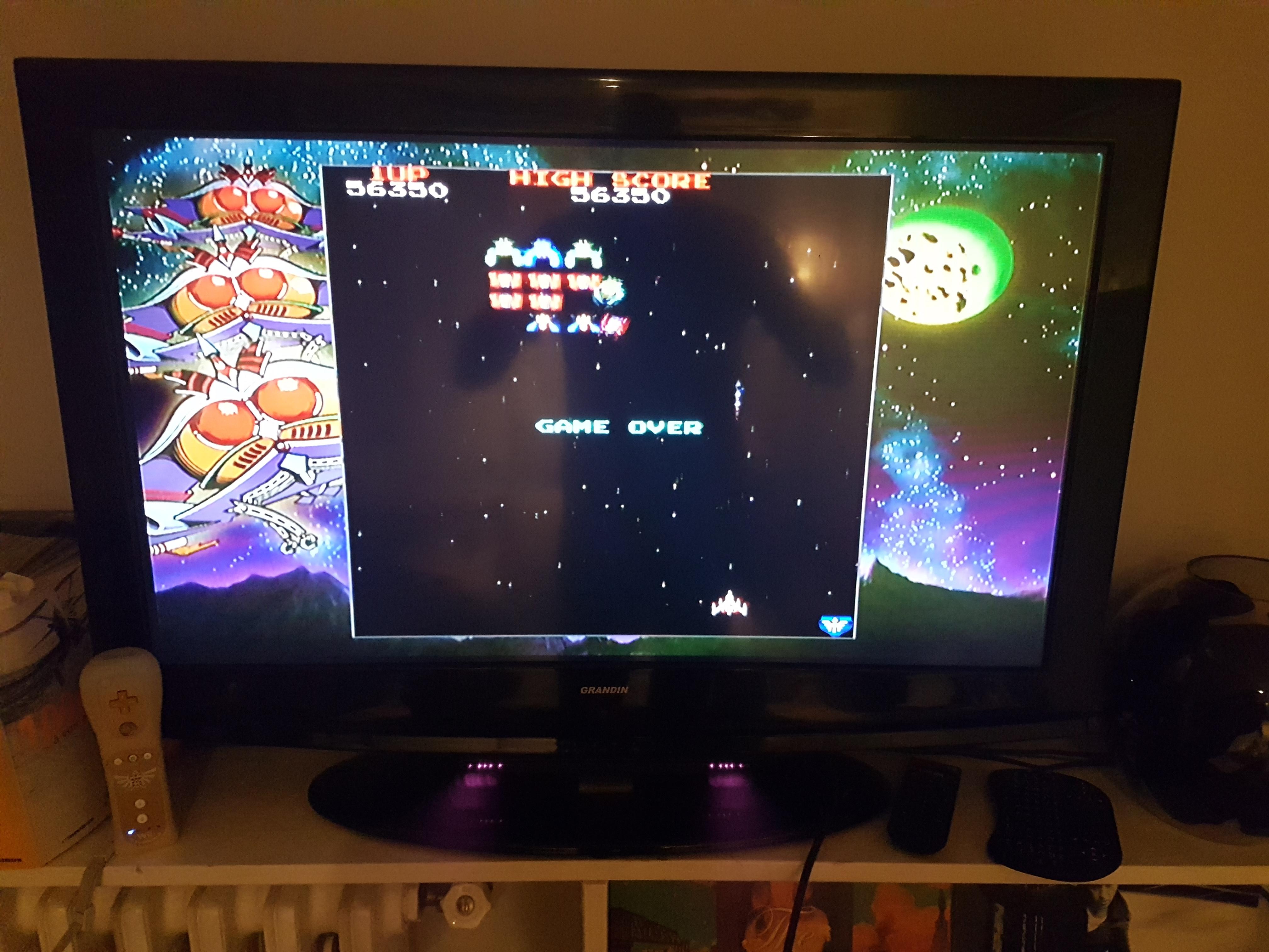 Namco Museum Megamix: Galaga 56,350 points