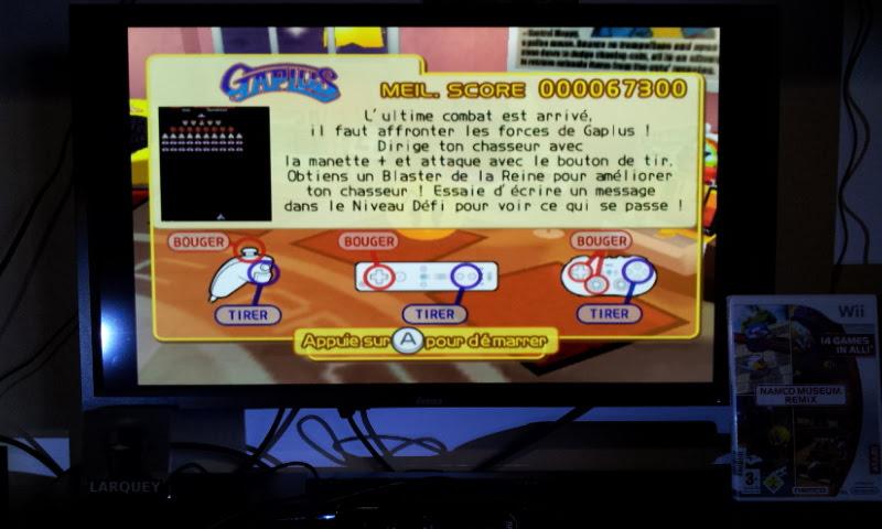 Larquey: Namco Museum Megamix: Gaplus (Wii) 67,300 points on 2018-01-20 04:27:27