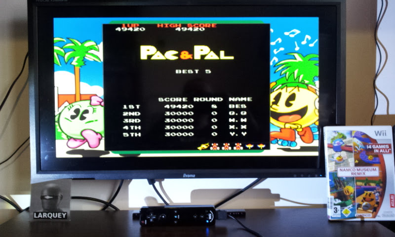 Larquey: Namco Museum Megamix: Pac & Pal (Wii) 49,420 points on 2018-01-20 04:39:06