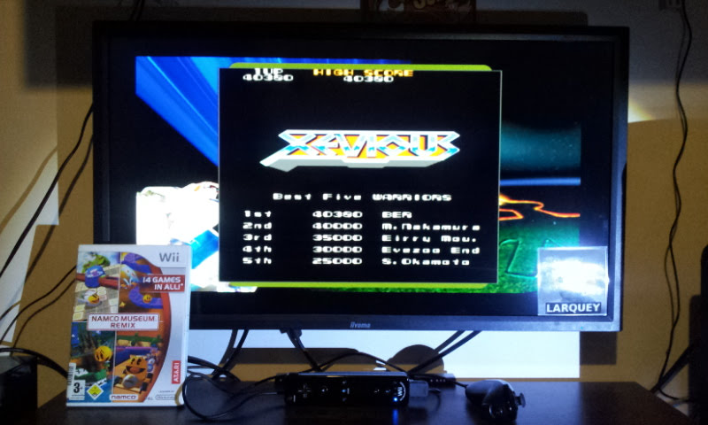 Larquey: Namco Museum Megamix: Xevious (Wii) 40,380 points on 2018-01-20 05:05:35