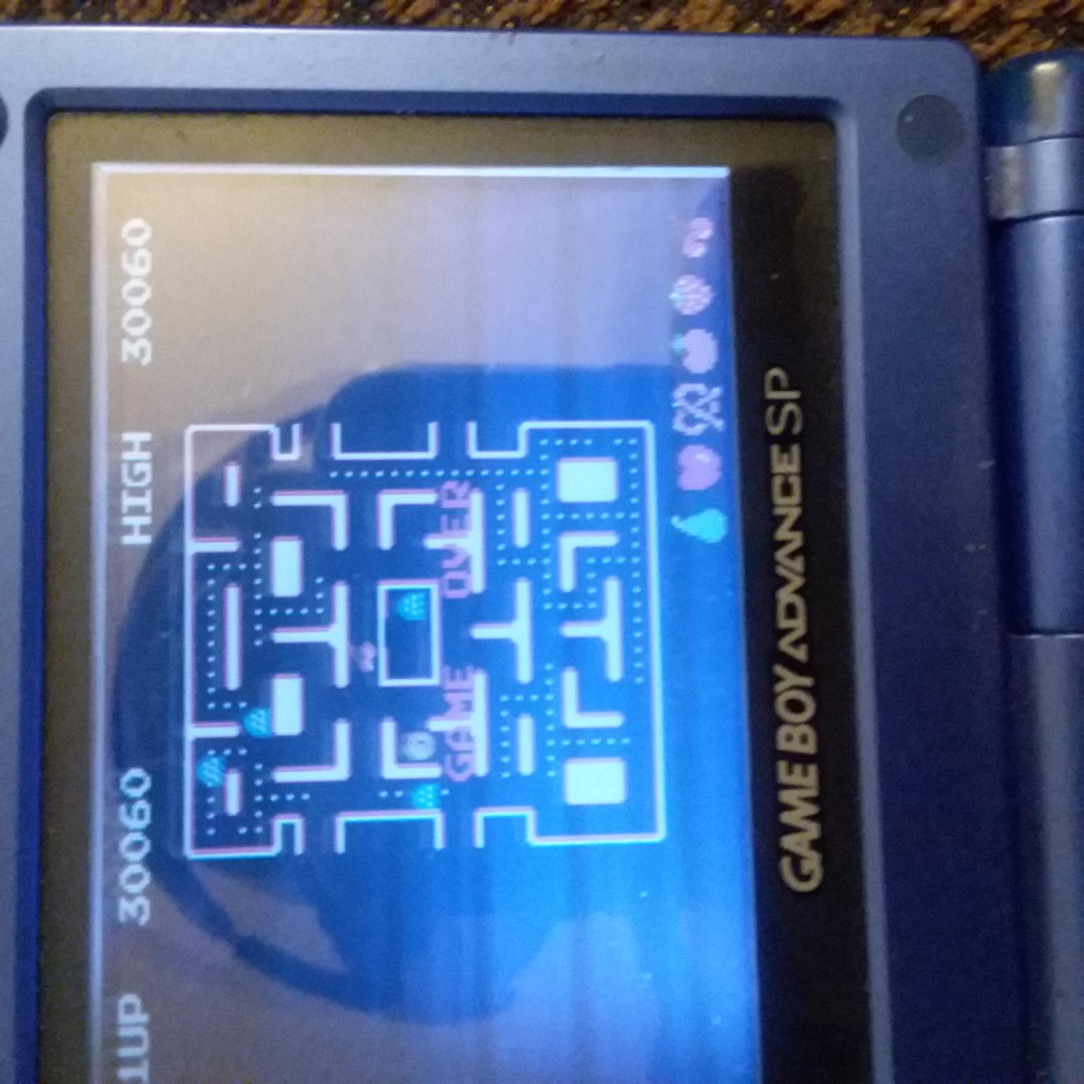Hauntedprogram: Namco Museum: Ms. Pac-Man (GBA) 30,060 points on 2021-04-16 09:05:39
