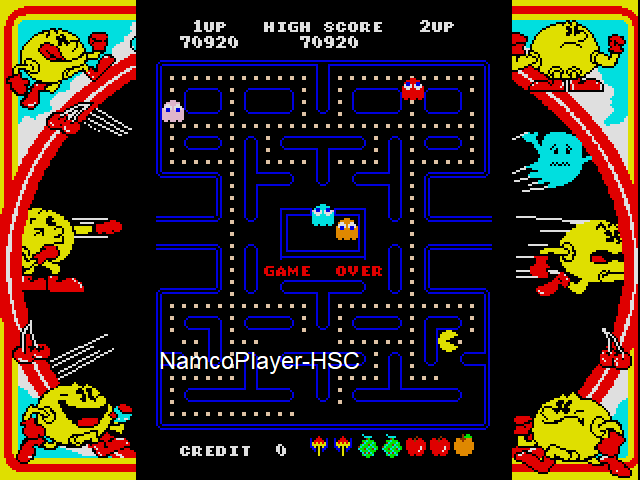 NamcoPlayer: Namco Museum: Pac-Man (Dreamcast Emulated) 70,920 points on 2021-01-01 09:16:40