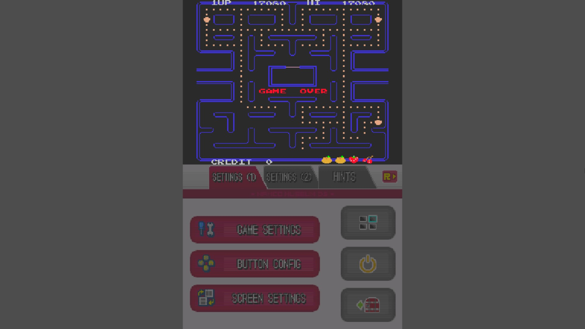 AkinNahtanoj: Namco Museum: Pac-Man (Nintendo DS Emulated) 17,080 points on 2020-10-18 06:25:22