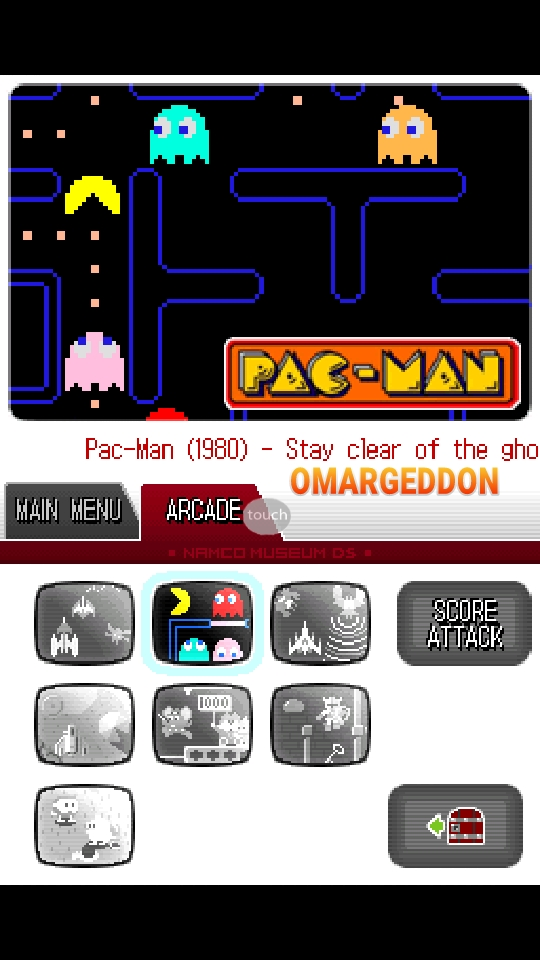 omargeddon: Namco Museum: Pac-Man (Nintendo DS Emulated) 26,550 points on 2018-10-08 10:40:55