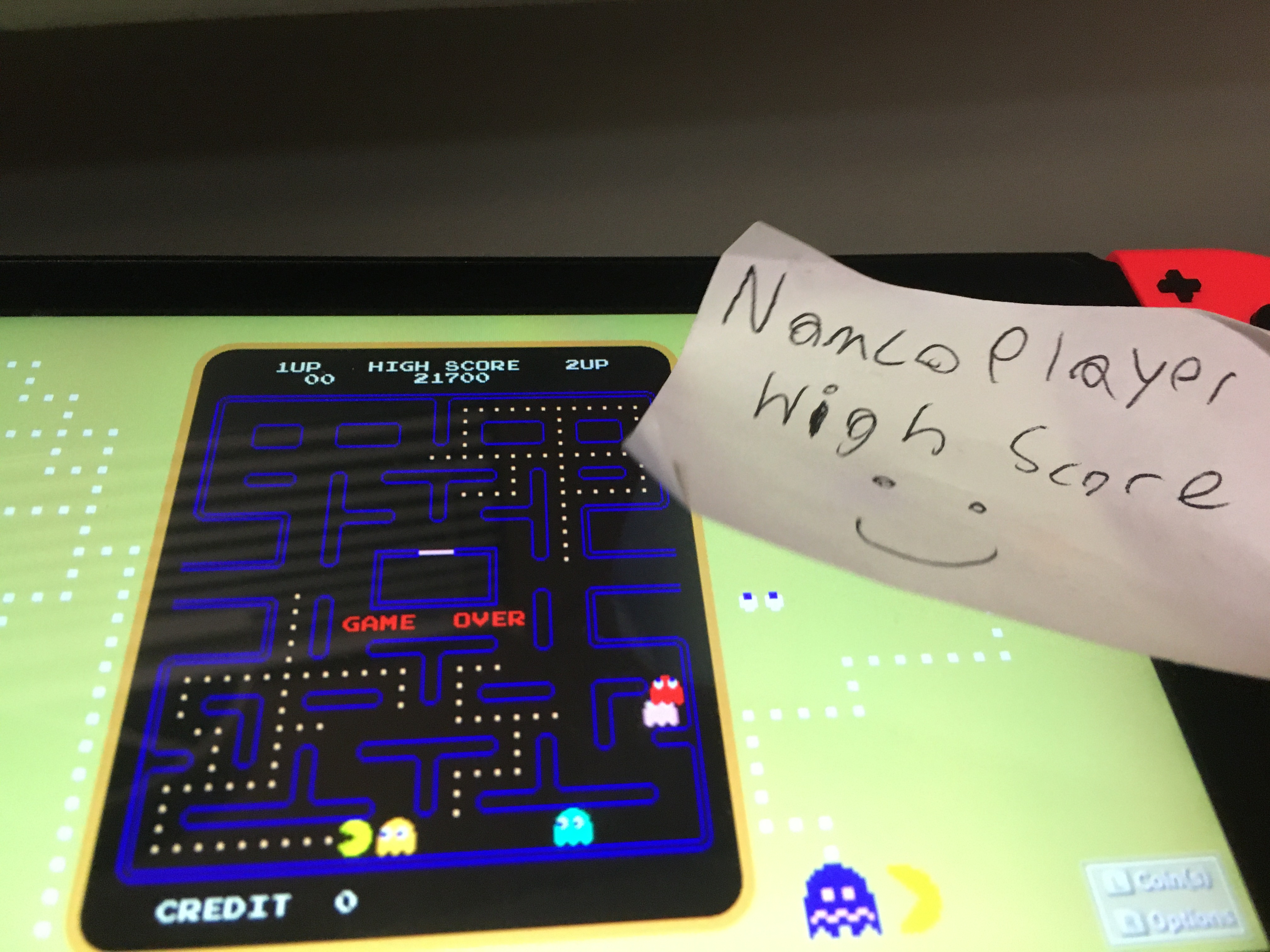NamcoPlayer: Namco Museum: Pac-Man [Normal] (Nintendo Switch) 21,700 points on 2020-10-11 19:33:55