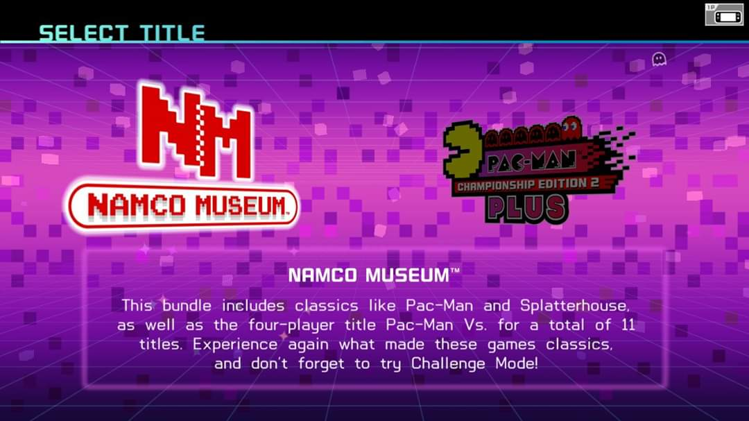JML101582: Namco Museum: Pac-Man [Normal] (Nintendo Switch) 3,560 points on 2020-01-15 22:24:17