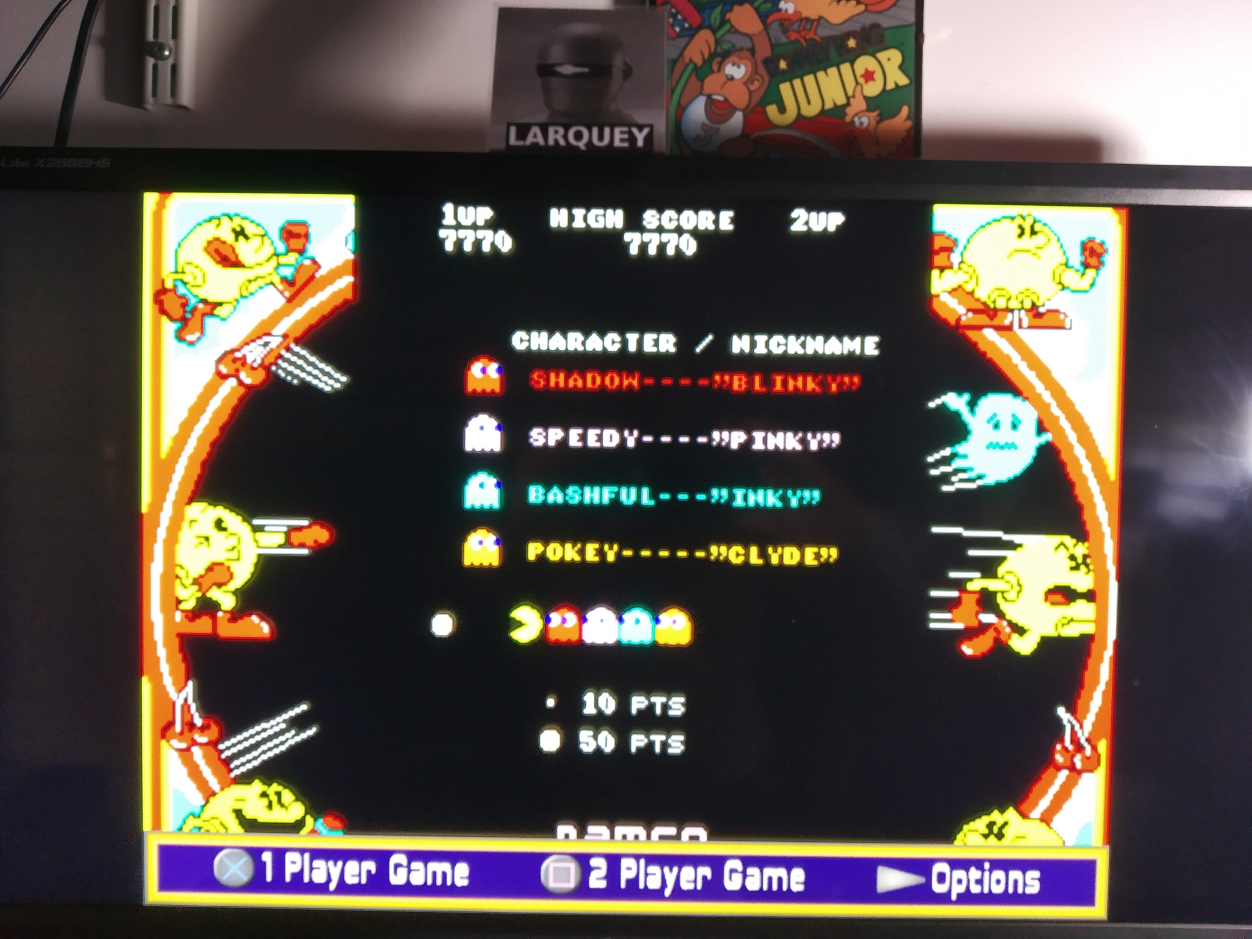 Larquey: Namco Museum: Pac-Man (Playstation 2 Emulated) 7,770 points on 2020-08-07 14:24:20