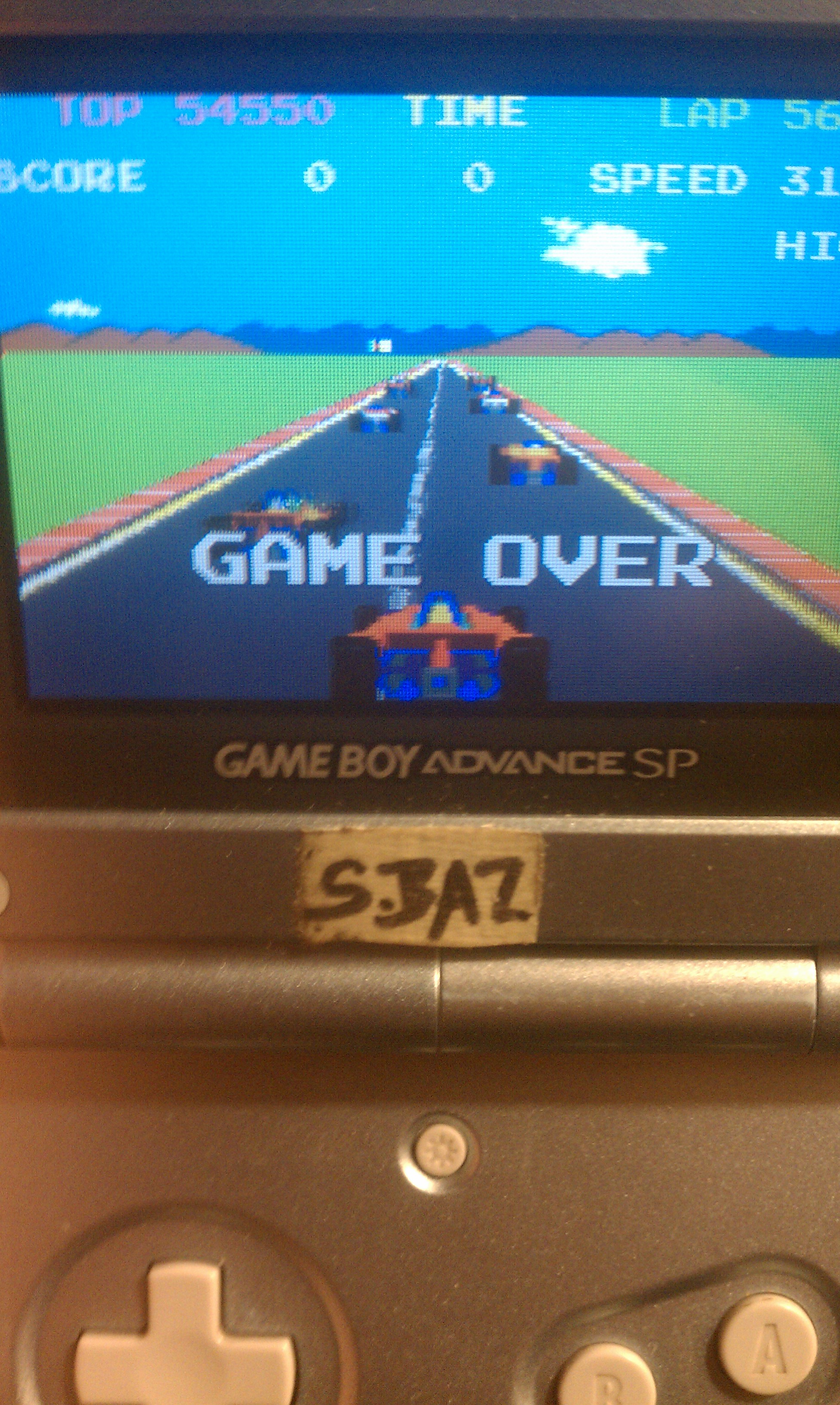 Namco Museum: Pole Position 54,550 points