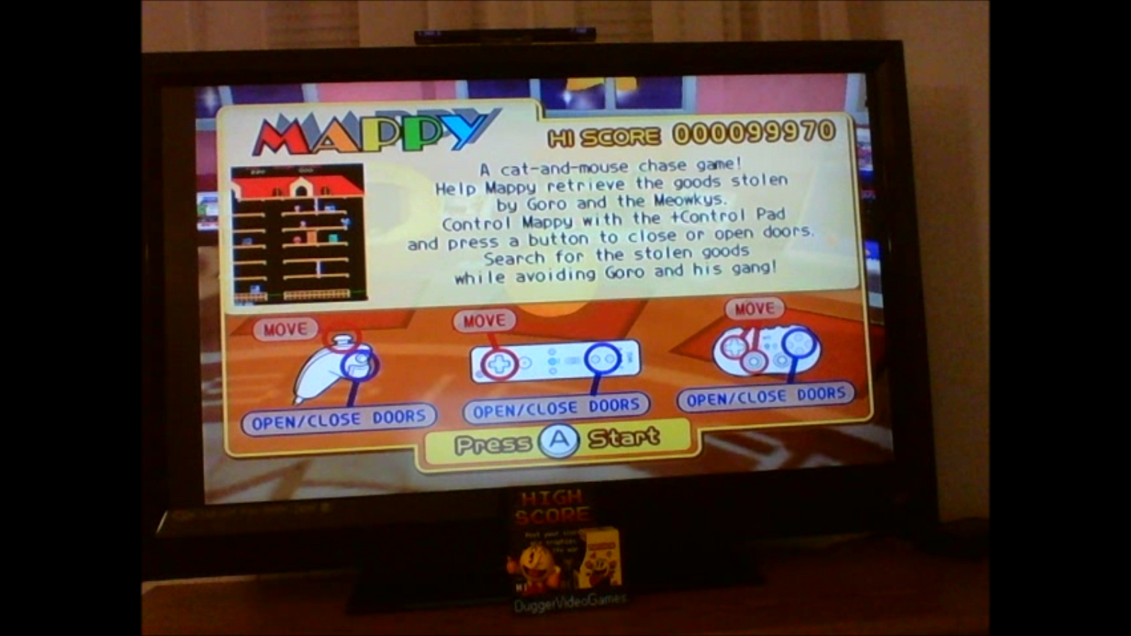 DuggerVideoGames: Namco Museum Remix: Mappy (Wii) 99,970 points on 2017-01-15 03:03:31