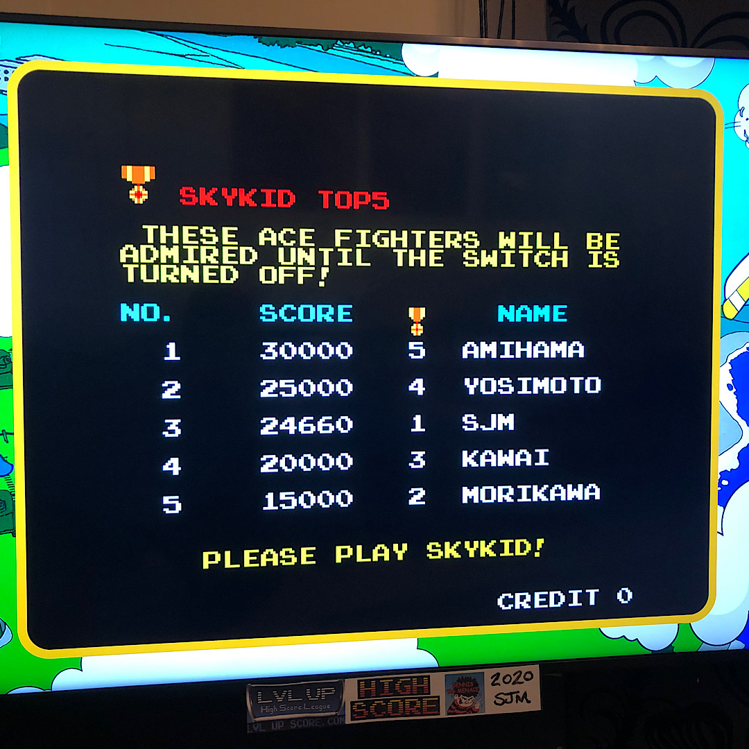 DtM2000: Namco Museum: Sky Kid [Normal] (Nintendo Switch) 24,660 points on 2021-02-08 12:30:49