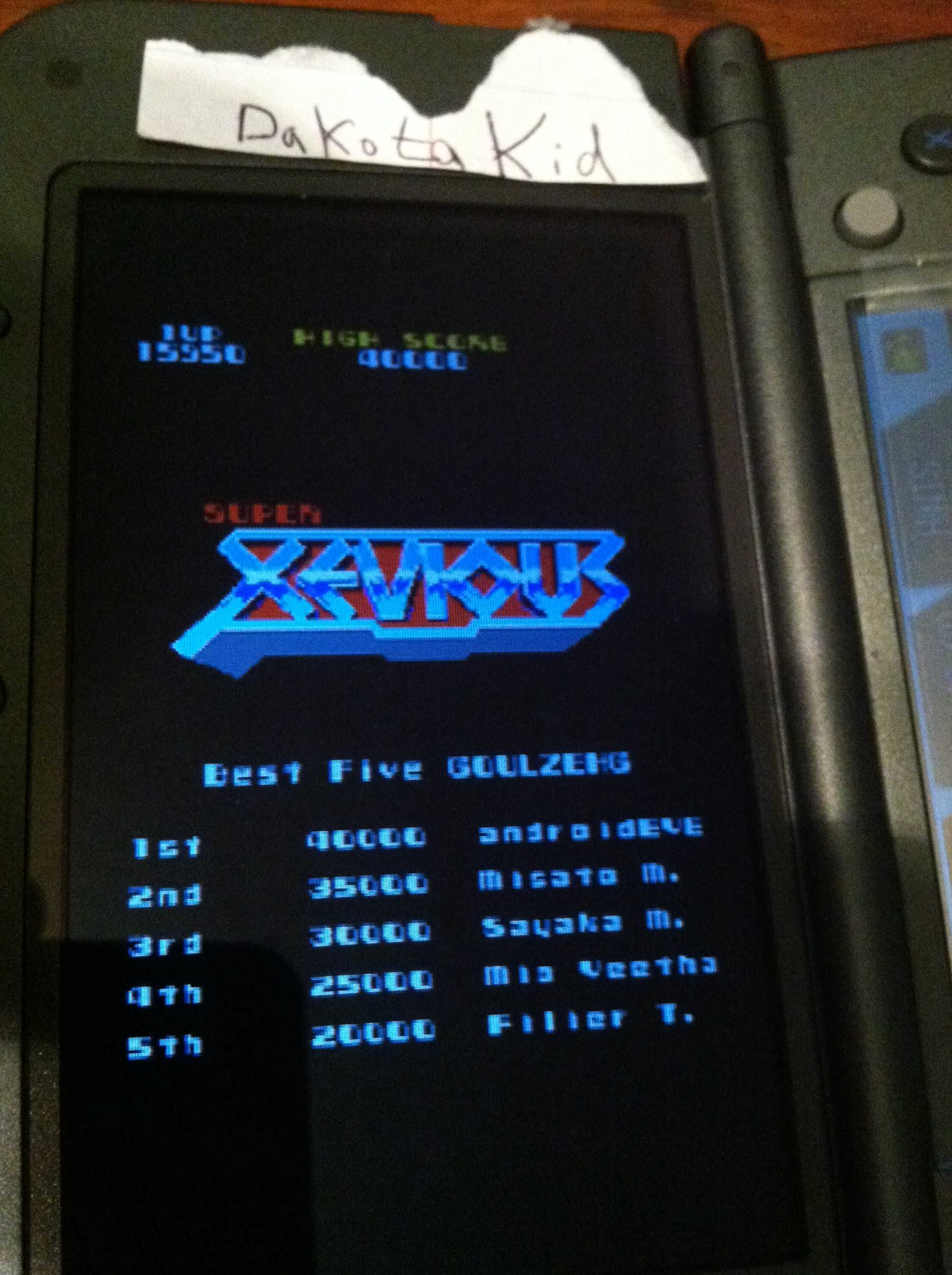 DakotaKid: Namco Museum: Super Xevious (Nintendo DS) 15,950 points on 2017-11-30 17:36:49