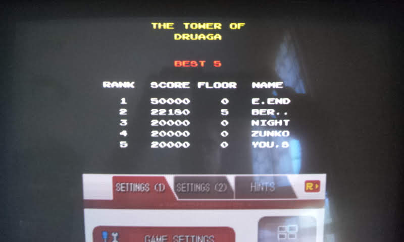 Larquey: Namco Museum: Tower of Druaga (Nintendo DS Emulated) 22,180 points on 2018-08-15 05:44:52