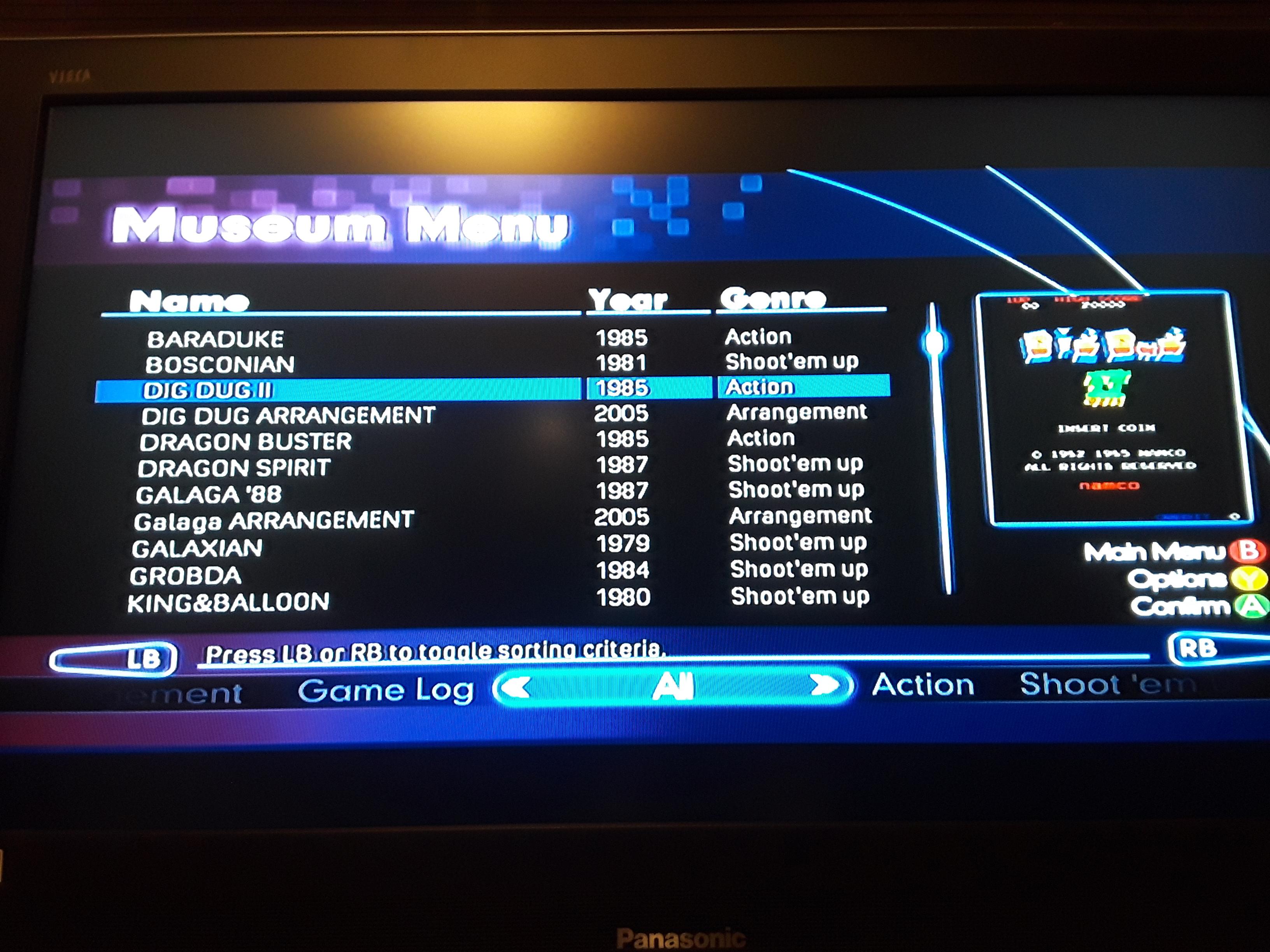 JML101582: Namco Museum Virtual Arcade: Dig Dug II (Xbox 360) 7,800 points on 2018-11-17 22:06:18