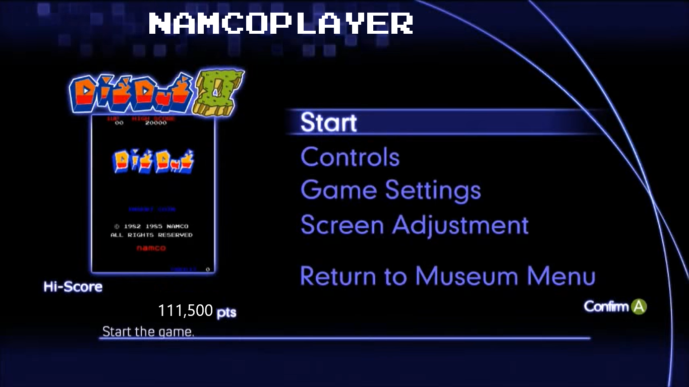 Namco Museum Virtual Arcade: Dig Dug II 111,500 points