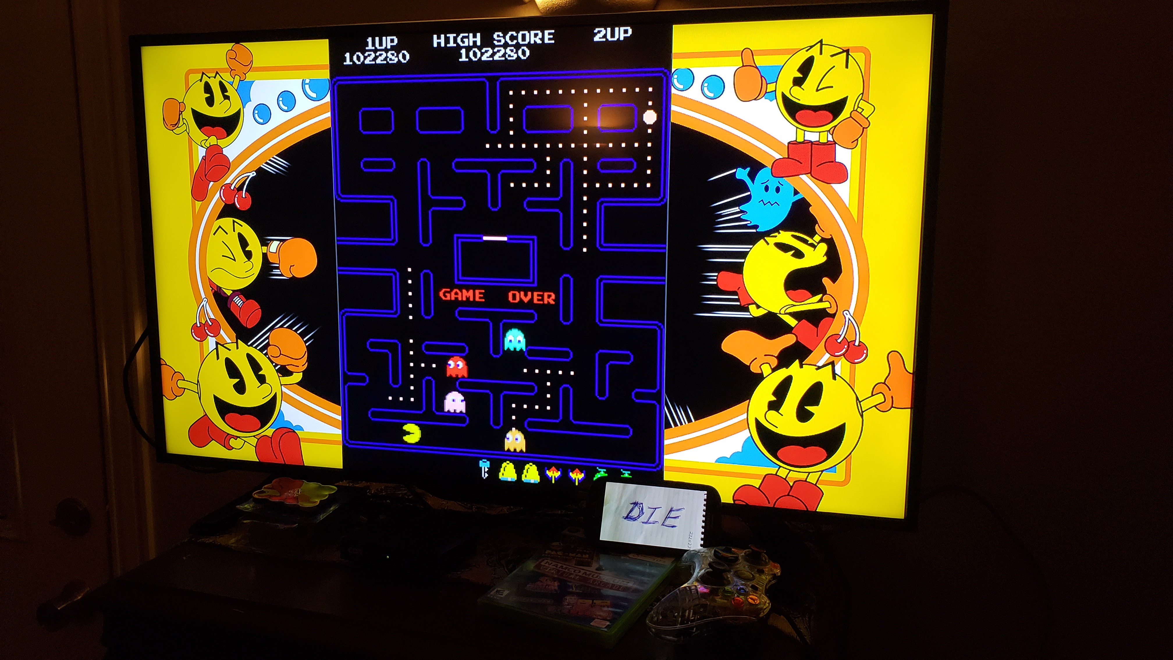 MikeDietrich: Namco Museum Virtual Arcade: Pac-Man (Xbox 360) 102,280 points on 2018-10-13 22:58:49
