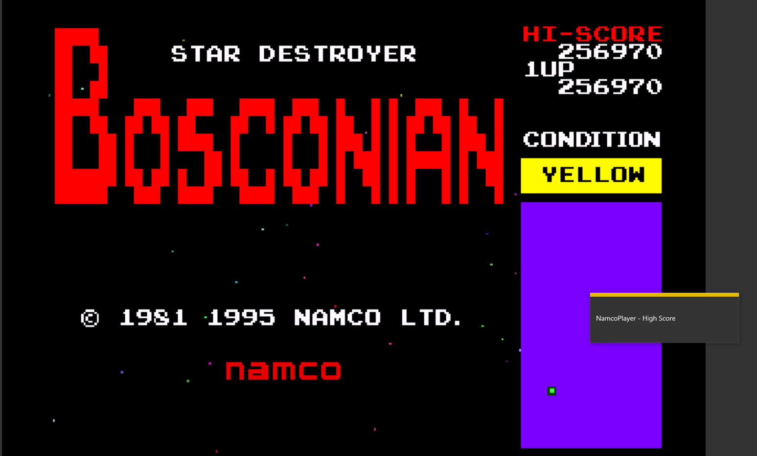 NamcoPlayer: Namco Museum Vol. 1: Bosconian (Playstation 1 Emulated) 256,970 points on 2020-10-26 17:02:30