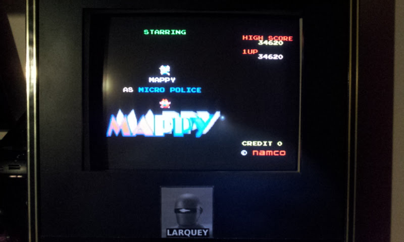 Larquey: Namco Museum Vol. 2: Mappy (Playstation 1 Emulated) 34,620 points on 2018-02-04 12:57:21