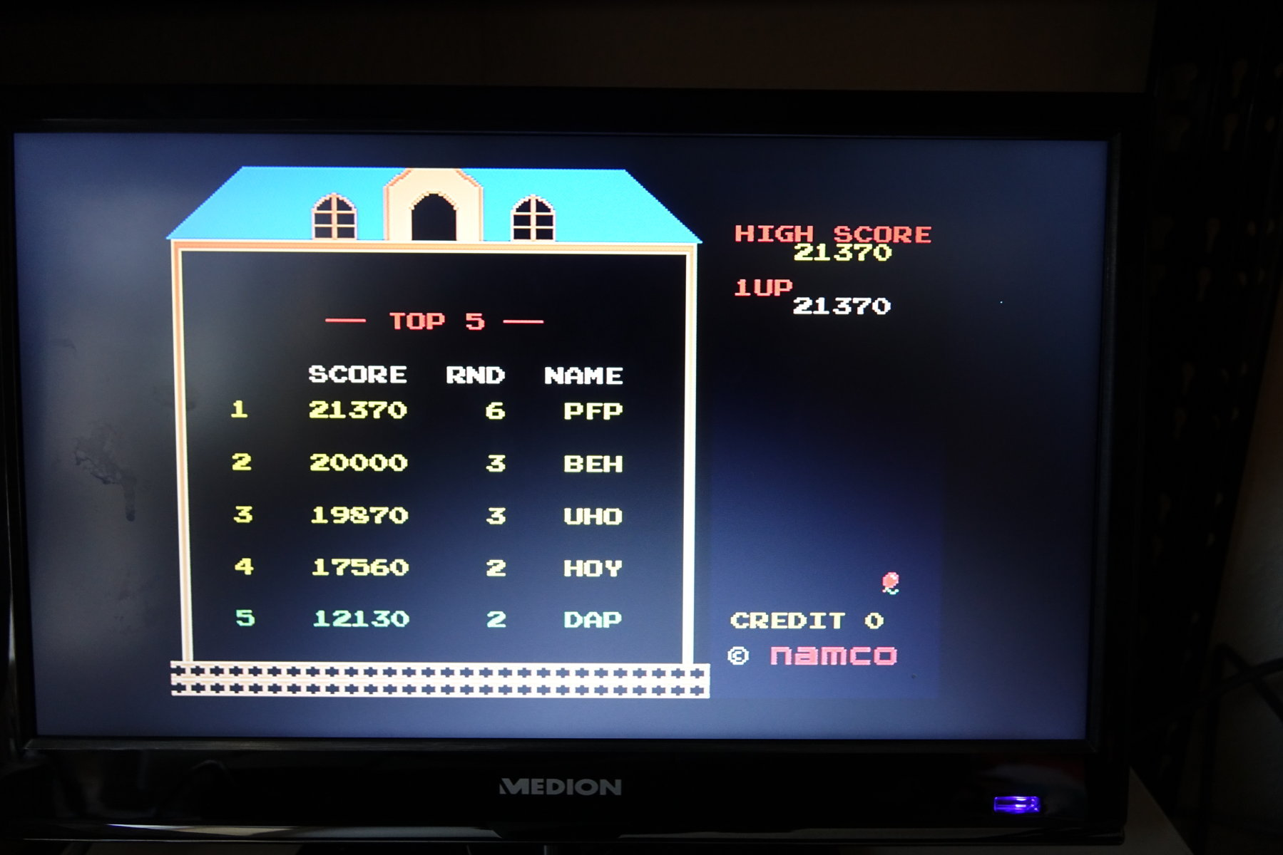 Namco Museum Vol. 2: Mappy 21,370 points