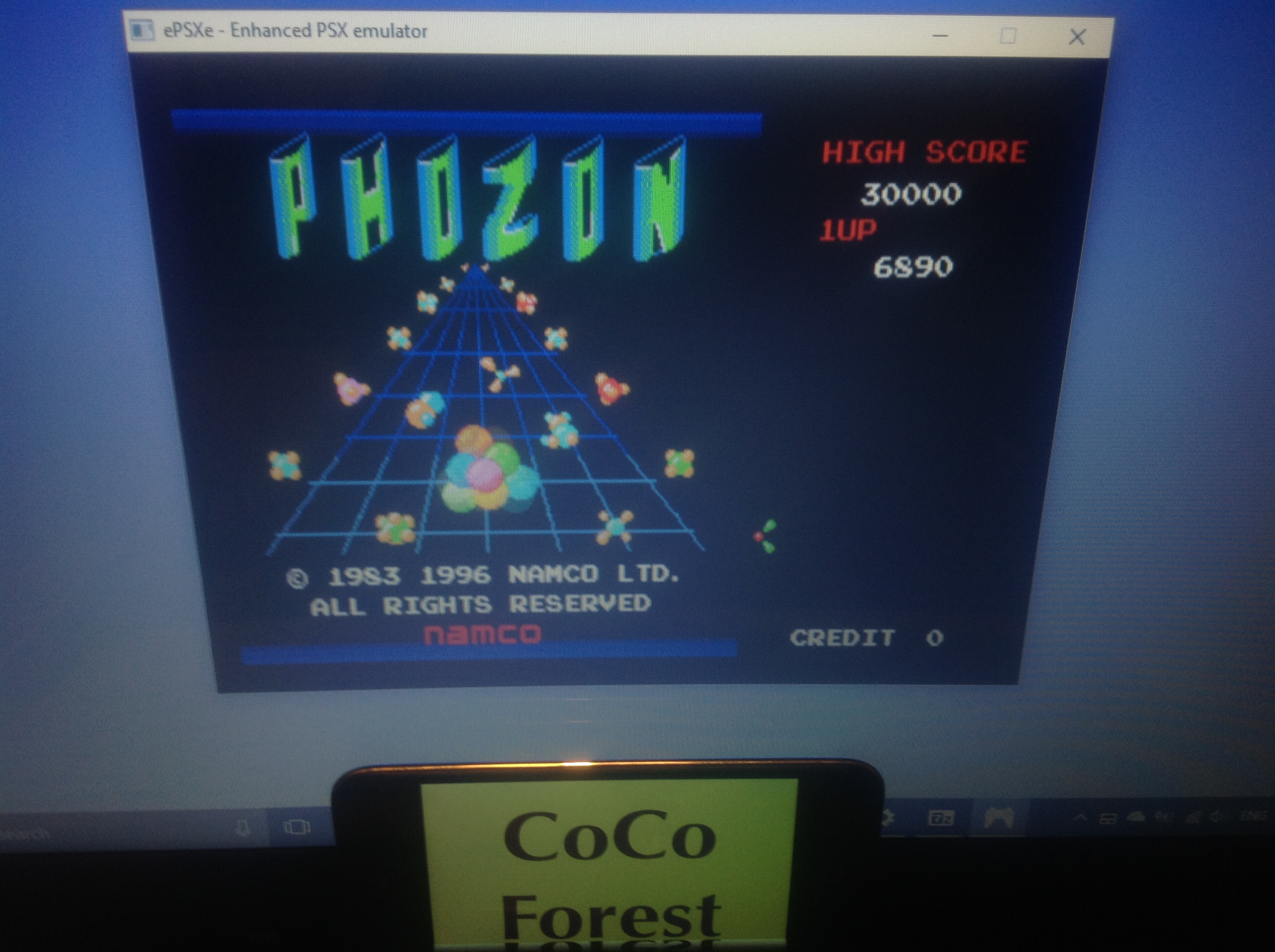 CoCoForest: Namco Museum Vol. 3: Phozon (Playstation 1 Emulated) 6,890 points on 2018-01-28 13:56:47