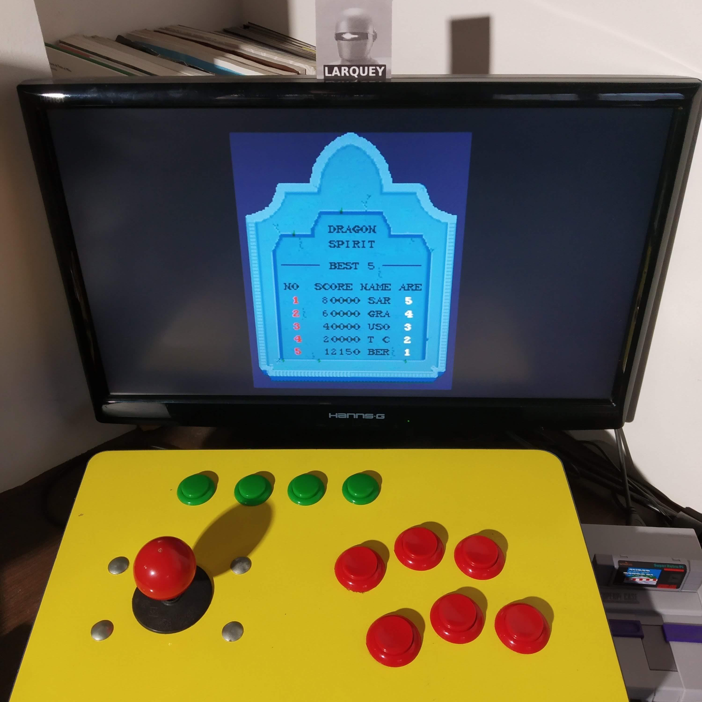 Larquey: Namco Museum Vol. 5: Dragon Spirit (Playstation 1 Emulated) 12,150 points on 2020-08-22 02:12:58