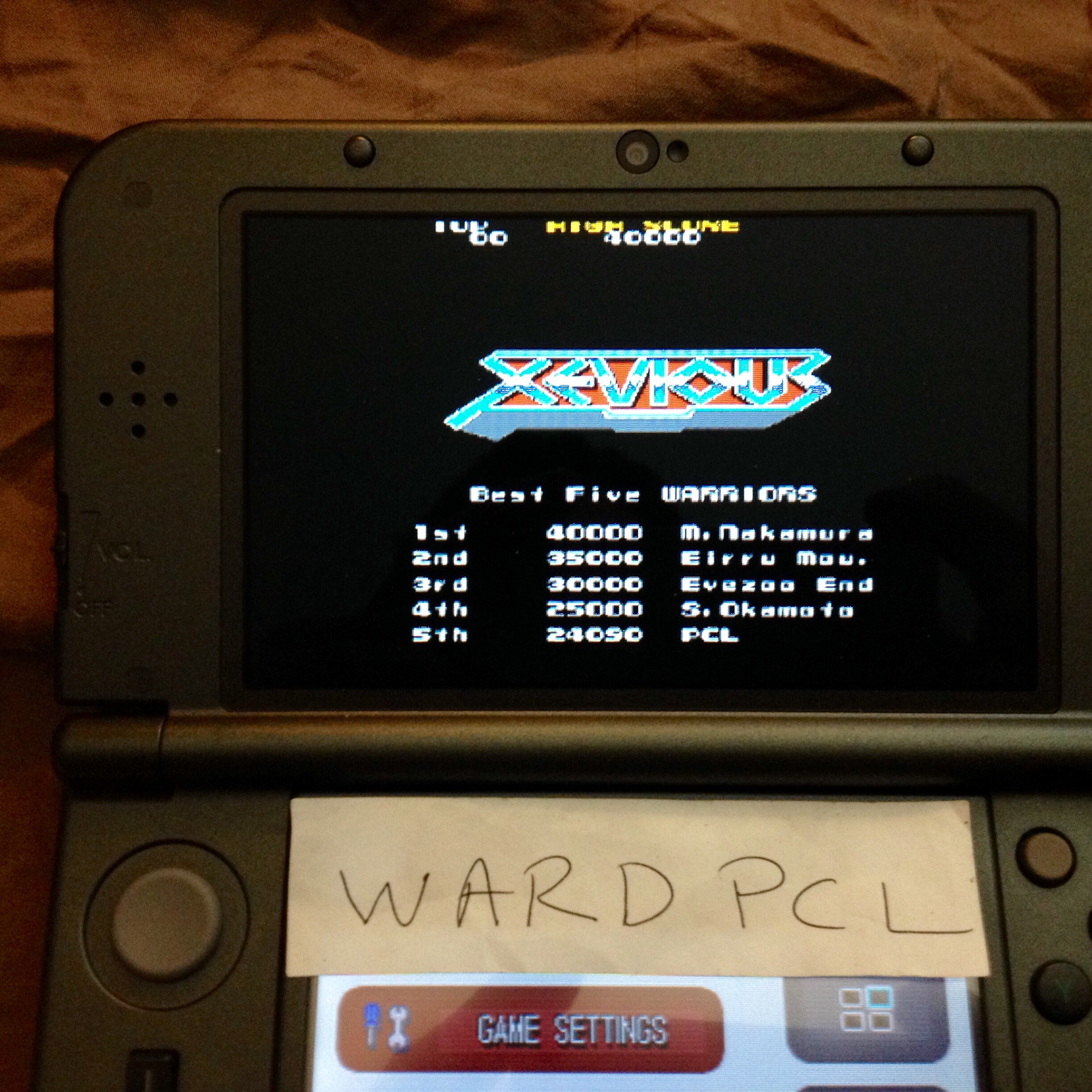 Wardpcl: Namco Museum: Xevious (Nintendo DS) 24,090 points on 2015-08-02 15:17:08