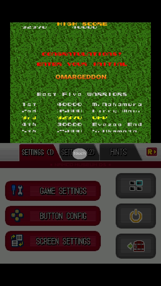 omargeddon: Namco Museum: Xevious (Nintendo DS Emulated) 32,370 points on 2018-10-10 10:01:29