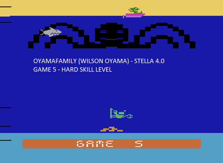 oyamafamily: Name This Game: Game 5 (Atari 2600 Emulated Expert/A Mode) 3,280 points on 2015-08-14 18:41:32