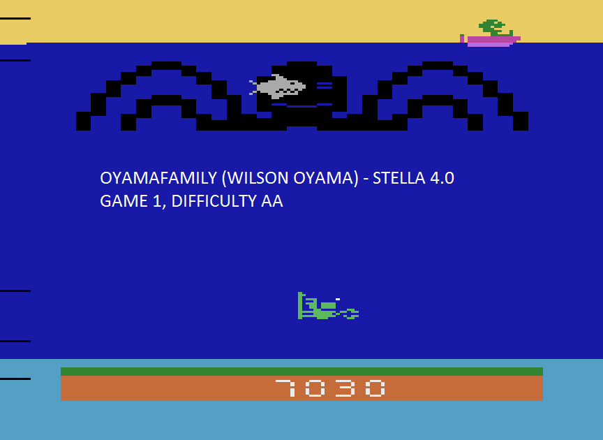 oyamafamily: Name This Game / Octopus (Atari 2600 Emulated Expert/A Mode) 7,030 points on 2015-08-14 18:41:27