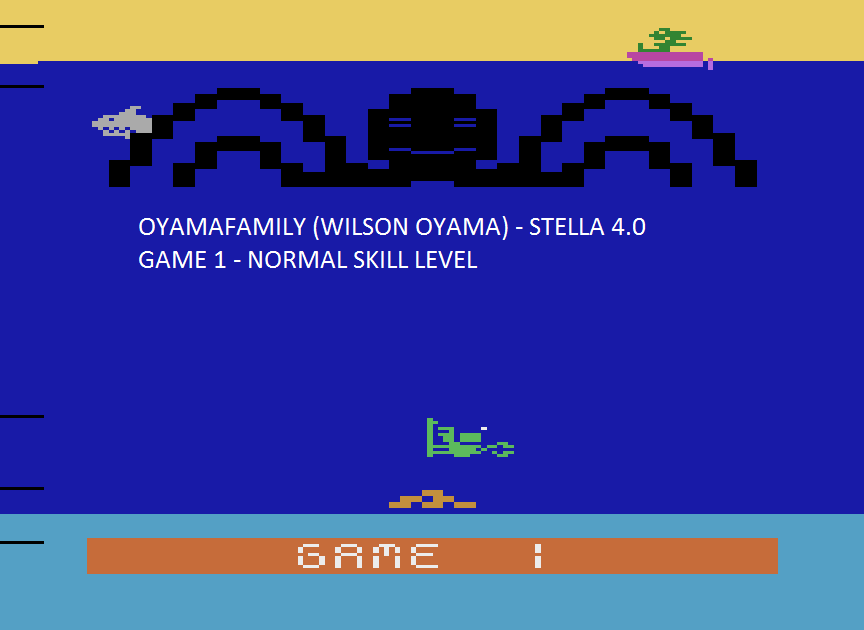 oyamafamily: Name This Game / Octopus (Atari 2600 Emulated Novice/B Mode) 11,080 points on 2015-08-14 18:41:19