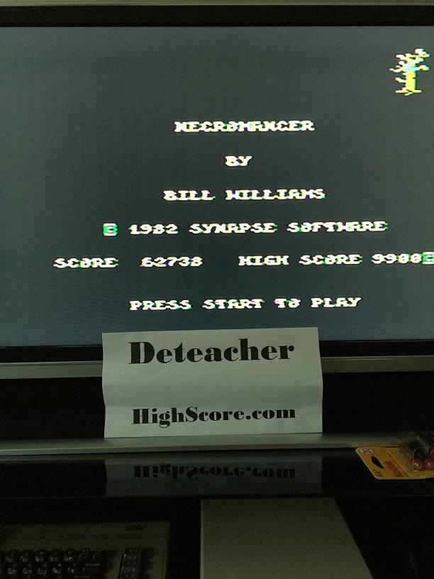 Deteacher: Necromancer (Atari 400/800/XL/XE) 62,738 points on 2016-04-14 12:44:29