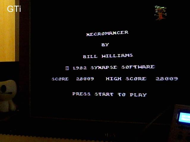 GTibel: Necromancer (Atari 400/800/XL/XE) 28,009 points on 2017-09-30 03:17:53