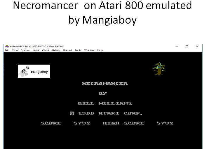 MangiaBoy: Necromancer (Atari 400/800/XL/XE Emulated) 5,732 points on 2018-11-08 04:15:44