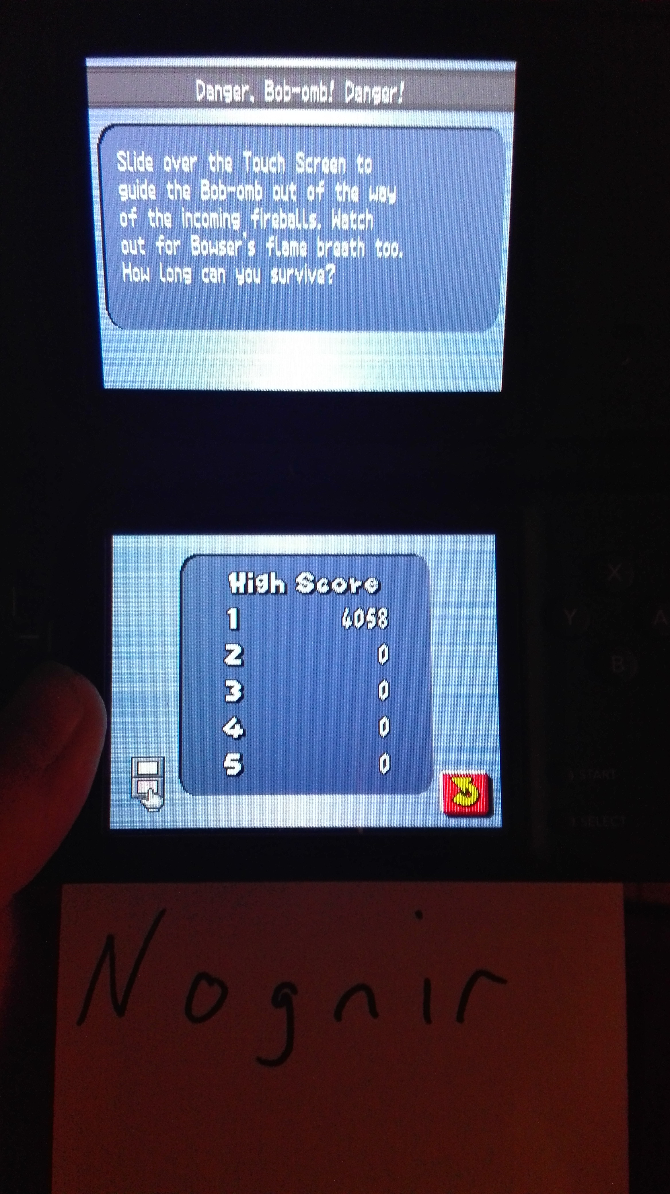 New Super Mario Bros.: Danger, Bob-omb! Danger! 4,058 points