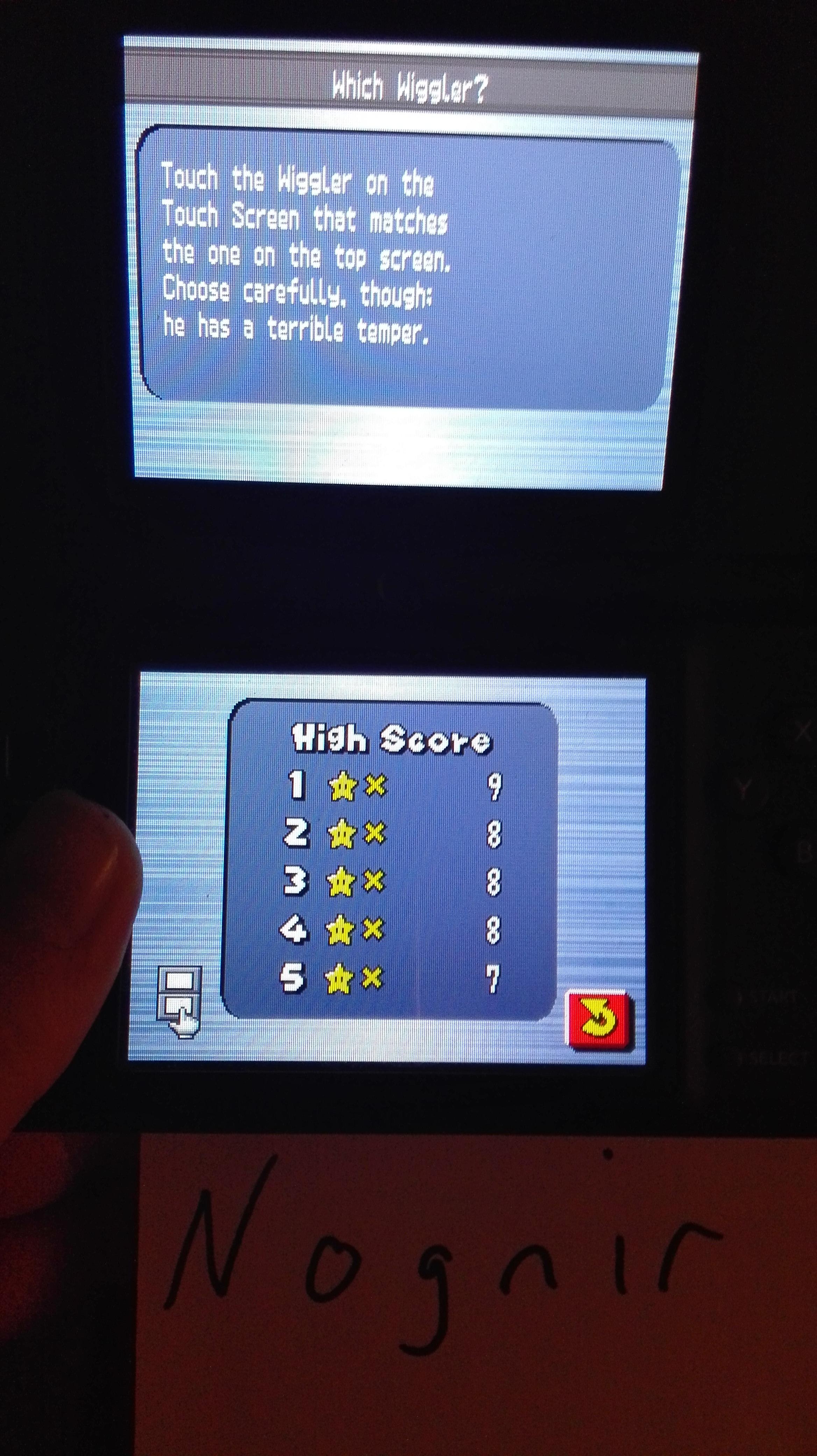 Nognir: New Super Mario Bros.: Which Wiggler? (Nintendo DS) 9 points on 2016-02-18 14:15:40