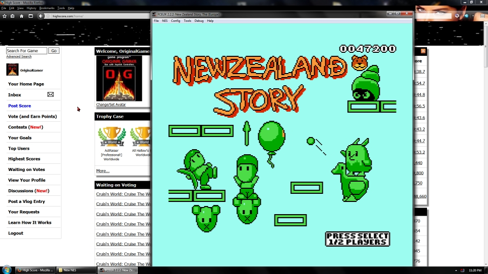 OriginalGamer: New Zealand Story (NES/Famicom Emulated) 47,200 points on 2016-08-26 12:18:26