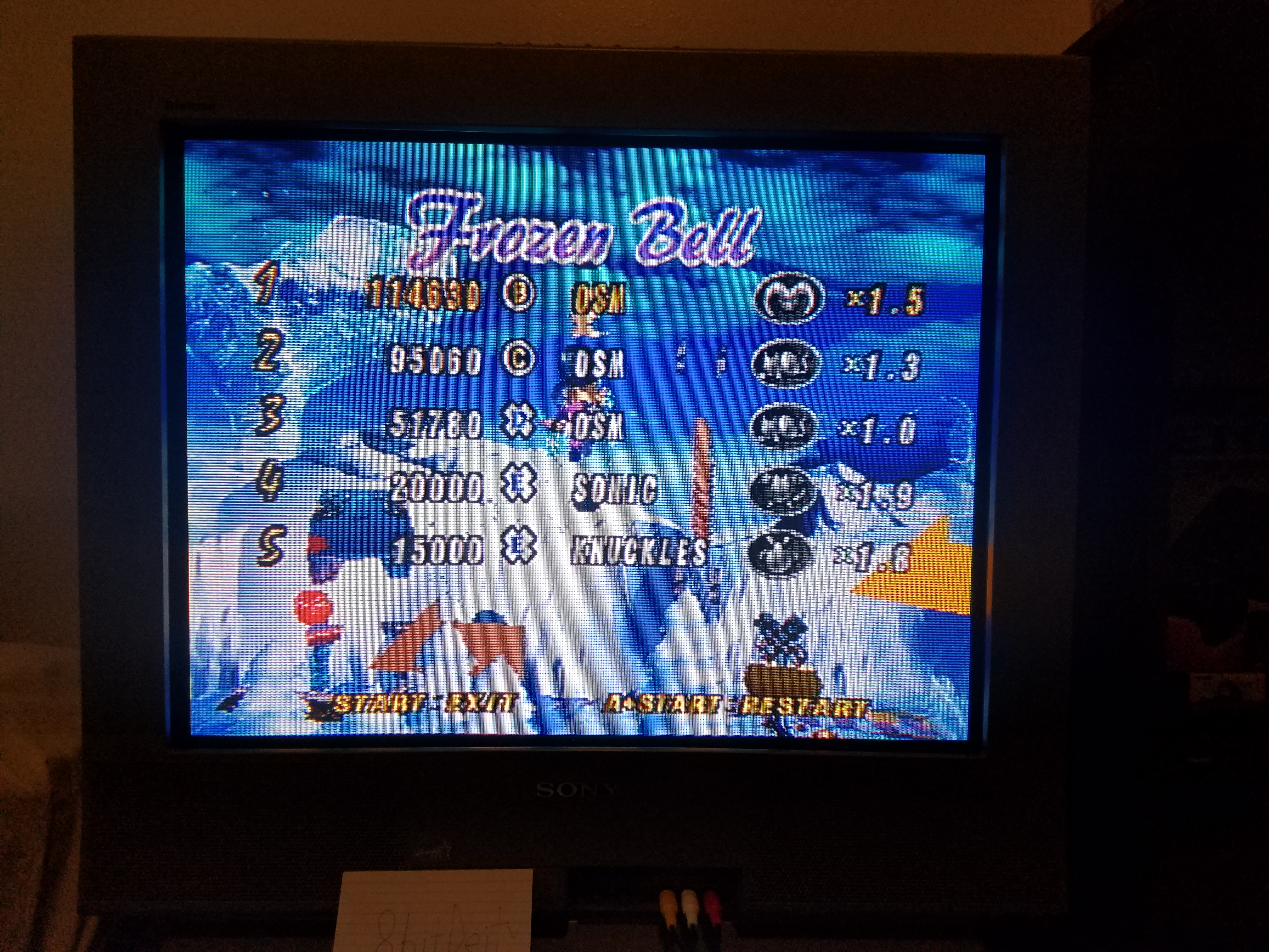 8bitDeity: NiGHTS Into Dreams: Frozen Bell (Sega Saturn) 114,630 points on 2018-08-17 17:49:03