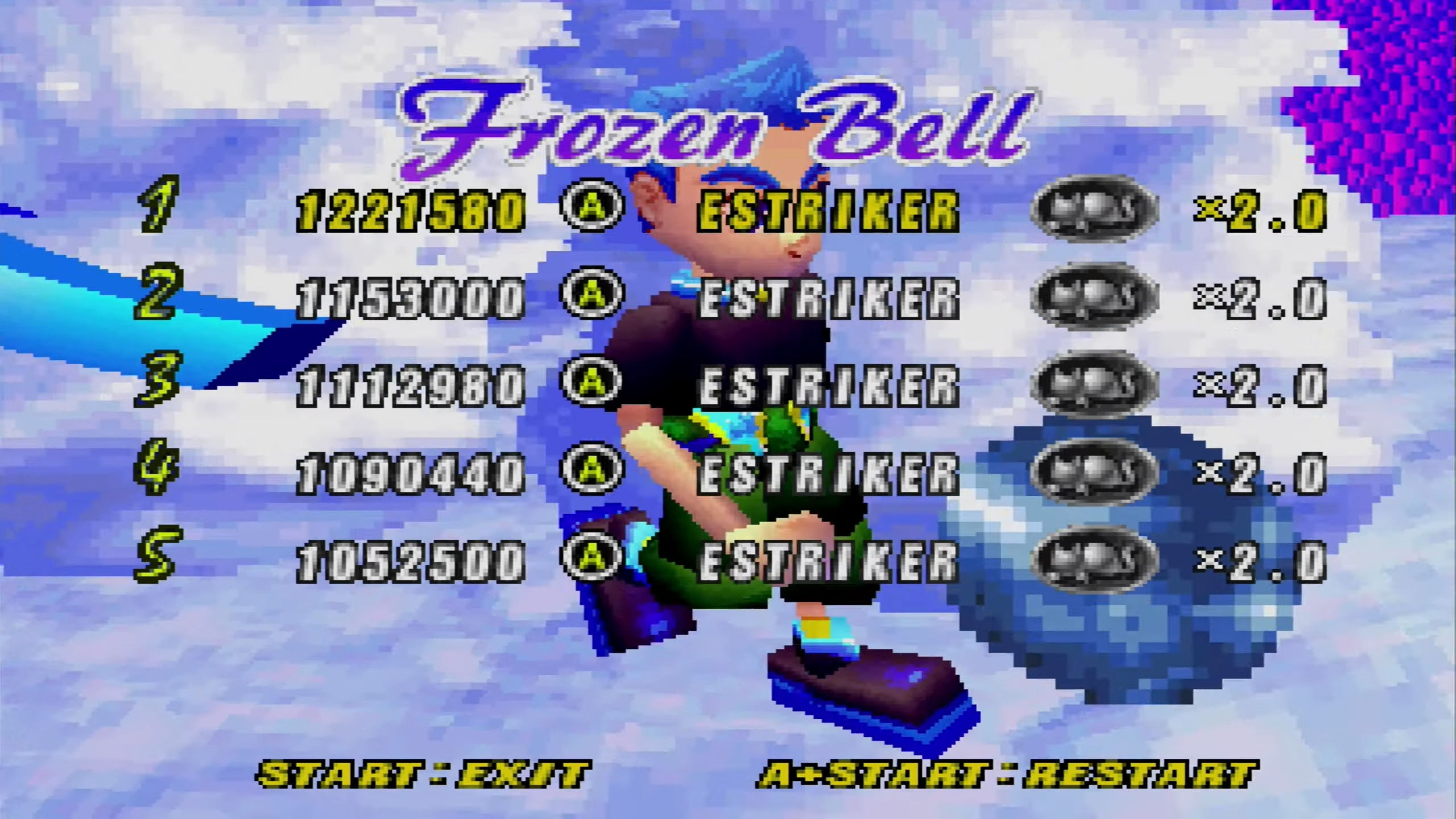 NiGHTS Into Dreams: Frozen Bell 1,221,580 points