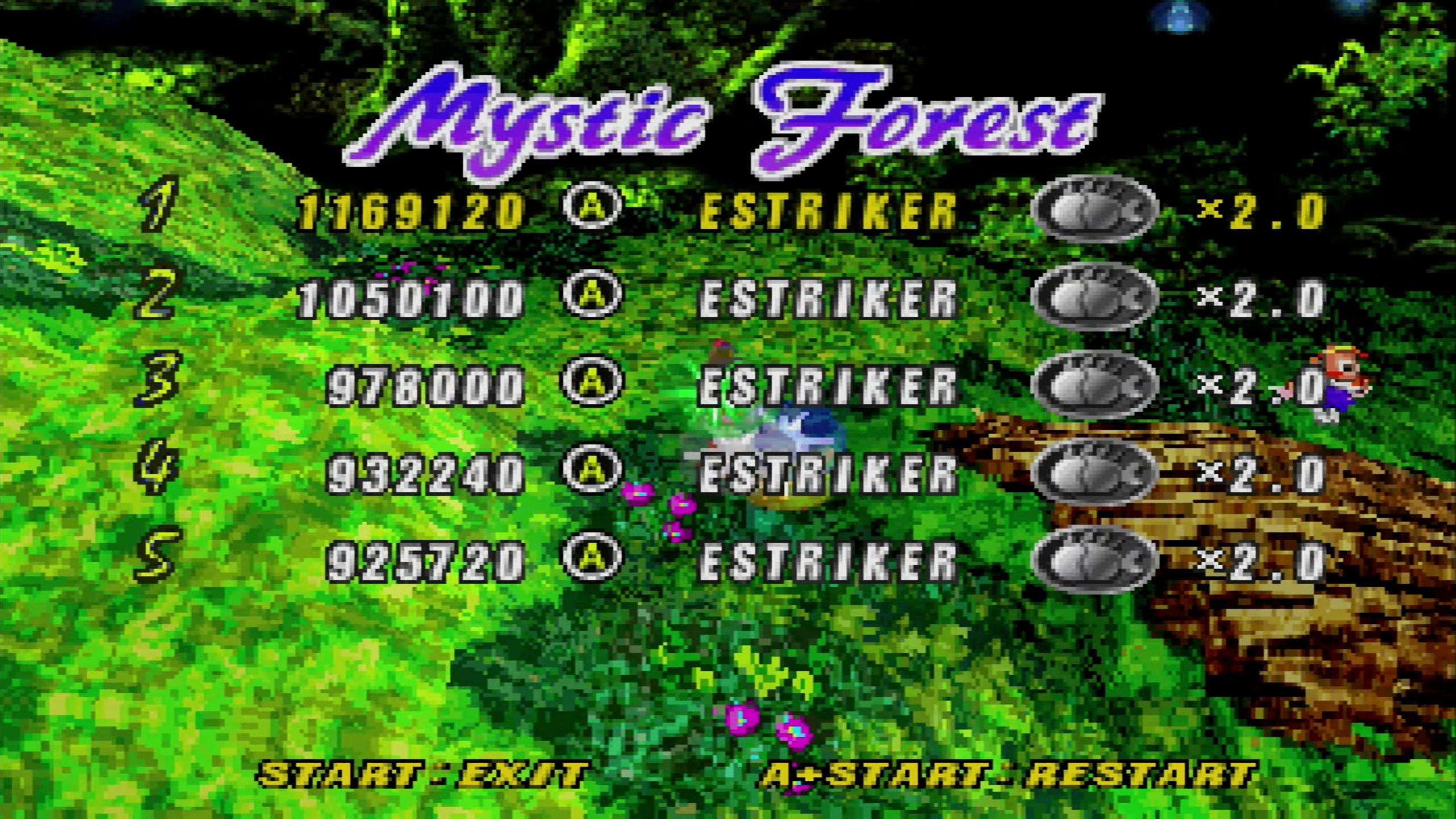 ElectricStriker: NiGHTS Into Dreams: Mystic Forest (Sega Saturn) 1,169,120 points on 2018-12-22 15:49:06
